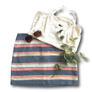 Gap striped summer skirts